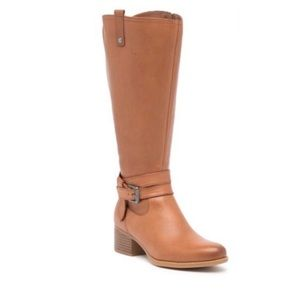 Naturalizer Riding Boot Wide Width Leather Boots
